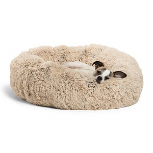 Best Friends by Sheri Calming Shag Dog Bed