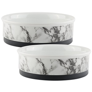 Bone Dry DII Ceramic Round Pet Bowl for Food