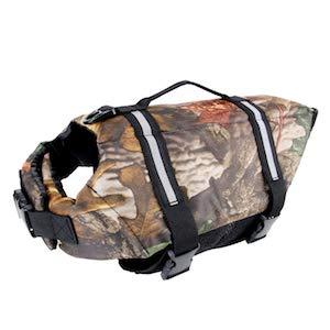 Camo Pet Life Preserver Camouflage Dog Life Vest