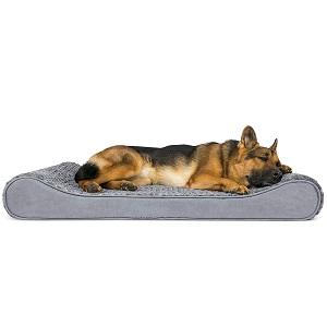 Furhaven Pet Dog Bed Orthopedic Ergonomic Luxe Lounger