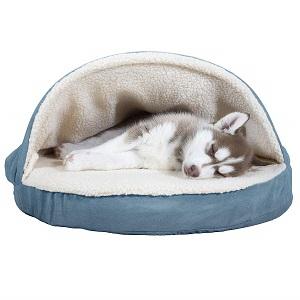 Furhaven Pet Dog Bed Orthopedic Round Cuddle Nest