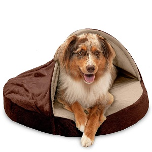 Furhaven Pet Orthopedic Round Cuddle Pet Bed