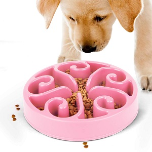 JASGOOD Slow Feeder Dog Bowl