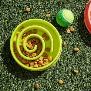 Juvale 2-Pack Interactive Spiral Bowl for Dog