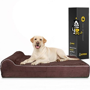 KOPEKS 7-inch Thick High-Grade Orthopedic Bed for Dogs
