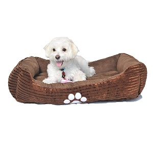 Long Rich Reversible Rectangle Dog Bed