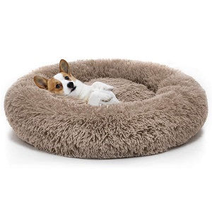 MIXJOY Orthopedic Dog Bed Comfortable Donut Cuddler