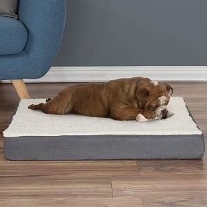 Orthopedic Sherpa Top Pet Bed with Memory Foam
