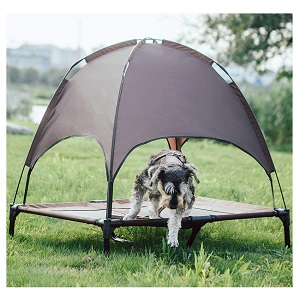SUPERJARE Outdoor Dog Bed with Canopy