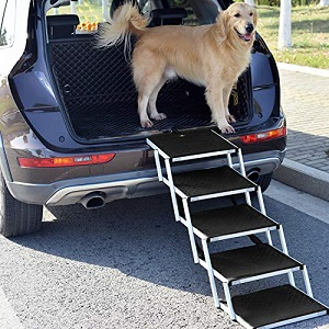 Upgraded Pet Dog Car Step Stairs by Snagle Paw
