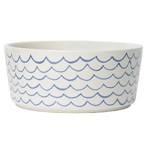 Waggo Sketched Wave Dog Bowl