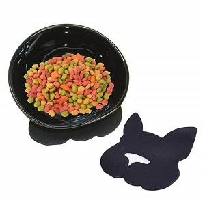 YMAXGO Ceramics Single Food Feeding Bowl for Flat Face Dogs