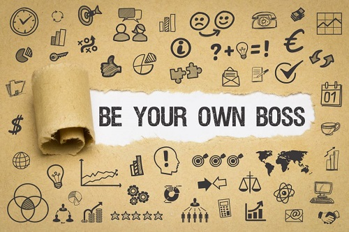 be your own boss with dog blog